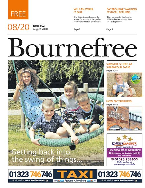 Bournefree Magazine –August 2020 Cover Thumbnail